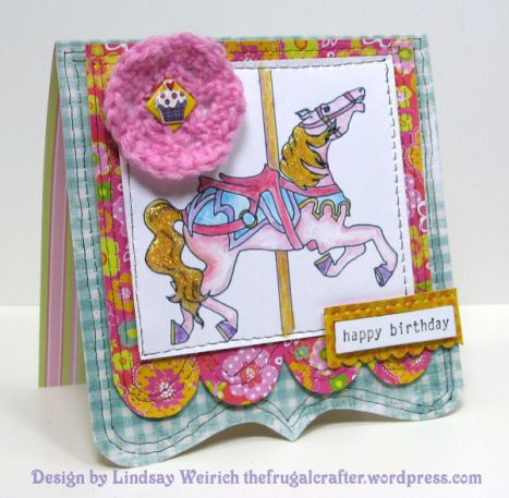 Digital Stamp: Lindsay's Stamp Stuff, Paper: MME, DCWV, K&Co, Cupcake Sticker: Borders, Rubber stamp: Stampin Up