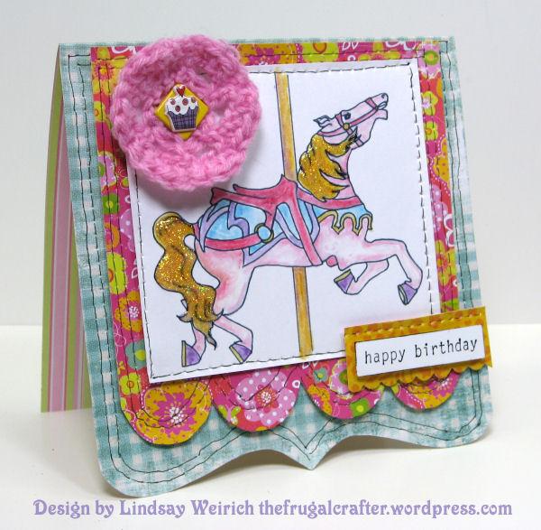Digital Stamp: Lindsay's Stamp Stuff, Paper: MME, DCWV, K&Co, Cupcake Sticker: Borders, Rubber stamp: Stampin Up