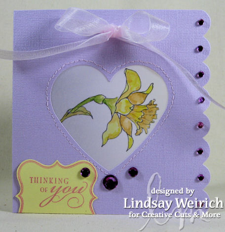 This die cut card is from Creative Cuts & More, pretty huh?