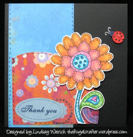 Stamp: Lindsay's Stamp Stuff, Paper: DCWV, Basic Grey, Bazzill, Lable: JoAnns