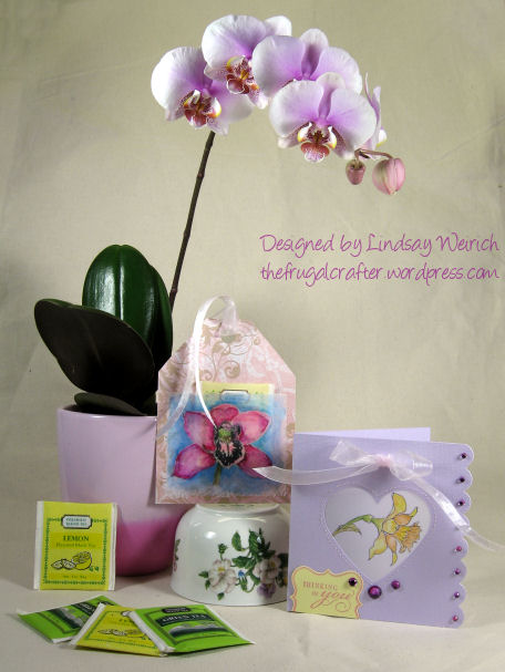 A Gift Set for Mom;) Stamps: (daffodil and orchid) Lindsay's stamp Stuff, (sentiment) Inkadinkado, Die cut: CC&M, Paper: DCWV