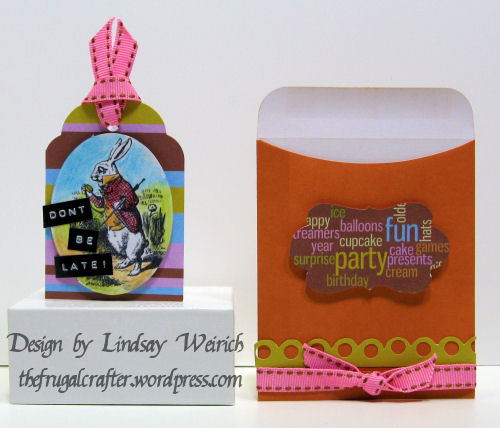 used an image from the Alice ATC sheet and the birthday kit for this invitation