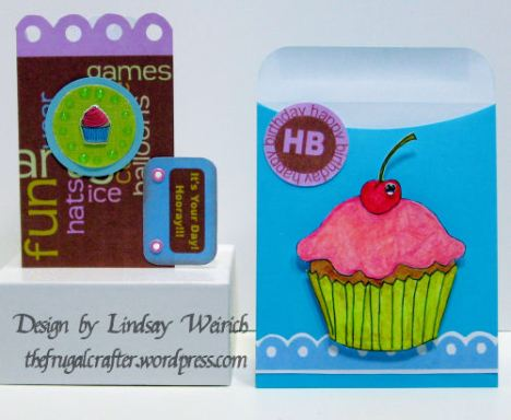 another with the Birthday Card Kit and the Cherry on top digital stamp.