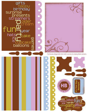 Lindsay's Stamp Stuff Card Kit: Birthday