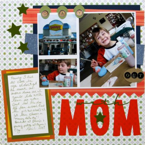 Die Cuts: Cricut, PP: DCWV, Making Memories, Creatrive Memories, Stickers: EK Success, Design by: Lindsay Weirich