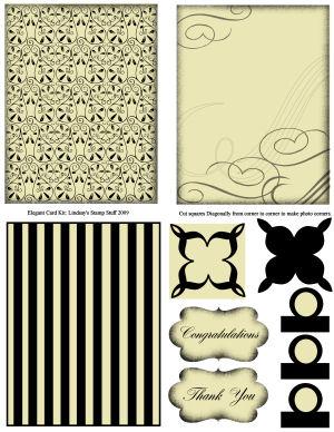 Lindsay's Stamp Stuff Card Kit: Elegant Black and Cream