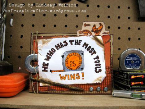 Digital Stamp: Lindsay's Stamp Stuff, Other: washers, nail drywall mesh, hemp cord