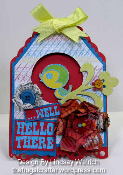 I used the new Faded Primary Card kit with traditional rubber stamps by Studio G and Imaginessence