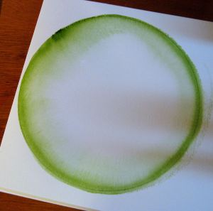 watermelon painting step 1