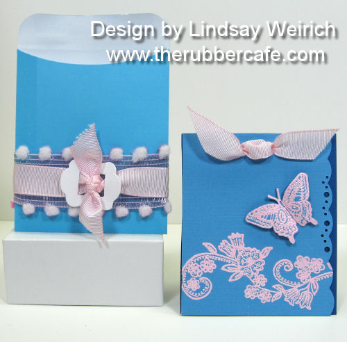 Stamps: The Rubber Cafe, Die Cuts/Cardstock: Creative Cuts and More, Pockets/ribbon: The Dollar Tree