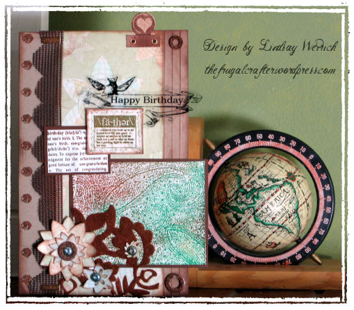 Cardstock: SU!, PP: Autumn leaves, Basic Grey, Stamps: Hero Arts, Inkadinkado, Technique Tuesday, Rubber Stampede, Font: DB Boho Banner, Felt: Queen & Co, Other: Window screen, washers, ink