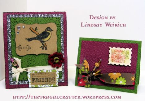 Stamps: Stampin Up!, Paper/Cardstock/Ribbon: American Crafts, Emb. Folder: Cuttlebug, Die: Ellison