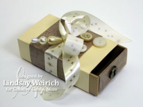 An easy to assemble XL matchbox will hold a generous amout of mins or candy YUM!