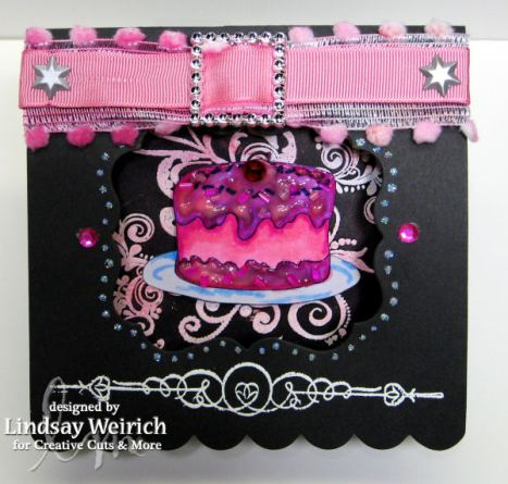 Card: Creative Cuts and More, Digital Stamp: Lindsay's Stamp Stuff, Rubber Stamps: Inkadinkado, Autumn Leaves, Brads, Ribbon,: Dollar Tree