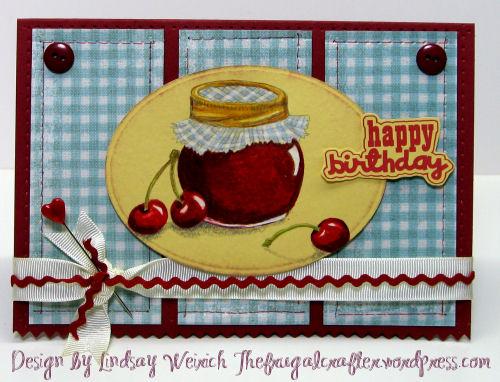 Digital Stamp: Lindsay's Stamp Stuff, PP: MME, Cardstock: SU!, The Paper Co., Font: Lettering Delights