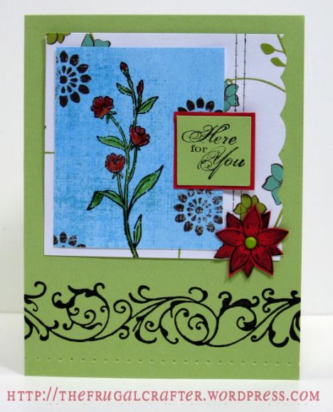 stamps/cardstock/ink: Stampin Up!, pattern paper: MME, American Crafts