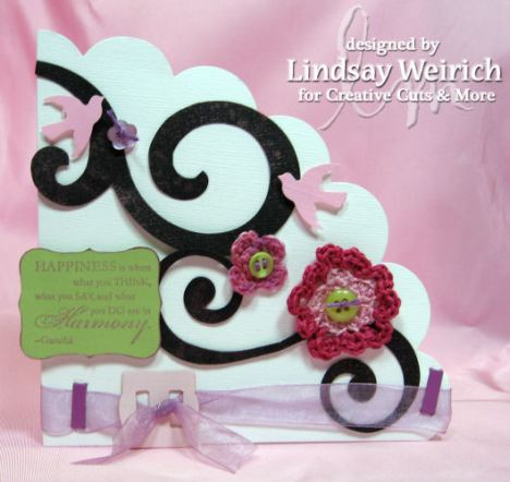 Die Cuts: Creative Cuts and More, Stamp: Stampin Up!, Punch: Martha Stewart