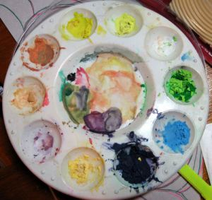 Save those shavings! watercolor crayons shavings make great paint, I sharpen mine with a craft knife.
