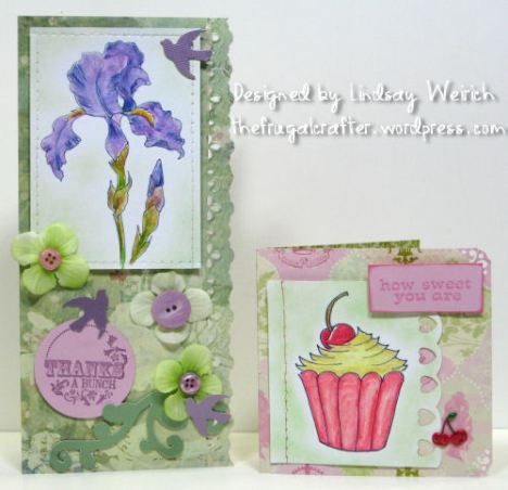 Digital Stamps: Lindsay's Stamp Stuff, Pattern Paper: K& Co, Rubber Stamps: Thanks (SU!) Sweet: Studio G, punch: fiskars
