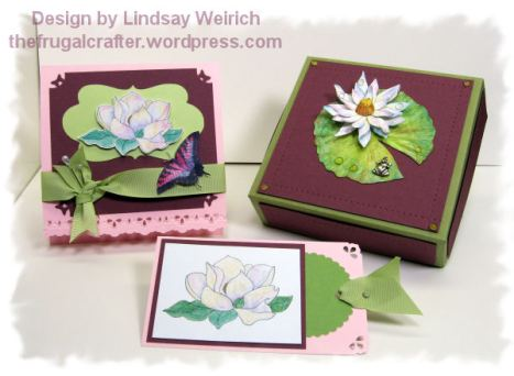 Stamps: Lindsay's Stamp Stuff, Paper: Strathmore, Stampin Up, Georgia Pacific, Pizza box Template: See free download links below.