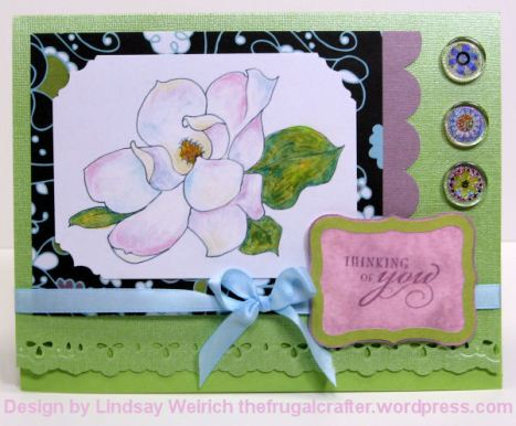 Digital Stamp: Lindsay's Stamp Stuff, PP: American Crafts, Cardstock: Coordanations