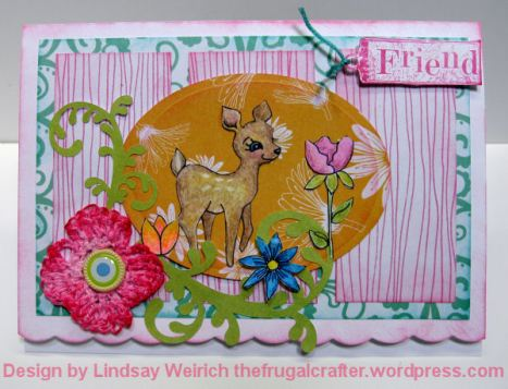 Digital Stamps: Lindsay's Stamp Stuff, Paper: American Crafts, Friend rubber stamp: Inkadinkado