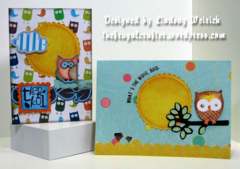 """One card uses digital elements, one used tradtitional elements but they both have the same """"feel""""."""
