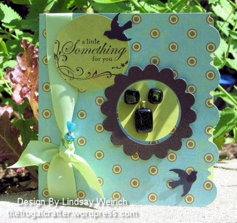 Stamp: Stampin Up!, Paper: K& Co., Die Cuts: Creative Cuts & More, Punch: Martha Stewart