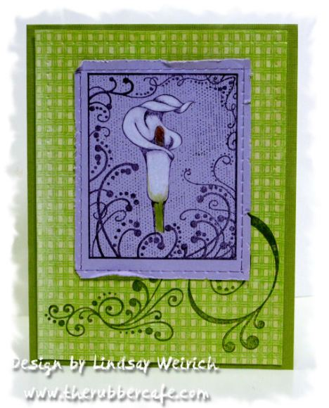 Stamps: The Rubber Cafe, Paper: K&Co, Cardstock: DCWV, Pencils: Prismacolor