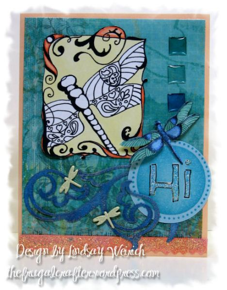 "Digital Stamps: Lindsay's Stamp Stuff, Cardstock: The Paper co.,Pattern Paper: K&Co., Die Cut: Cricut, Epoxy Stickers: Dollar Tree, Rubber Stamp ""hi"" Studio G"