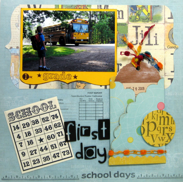 Digital stamps (Library card, bingo card) Lindsay's Stamp Stuff, Paper: K&Co, Autumn Leaves, Rubber stamps: Plaid, Inque botique, Tool: Cricut/SCAL