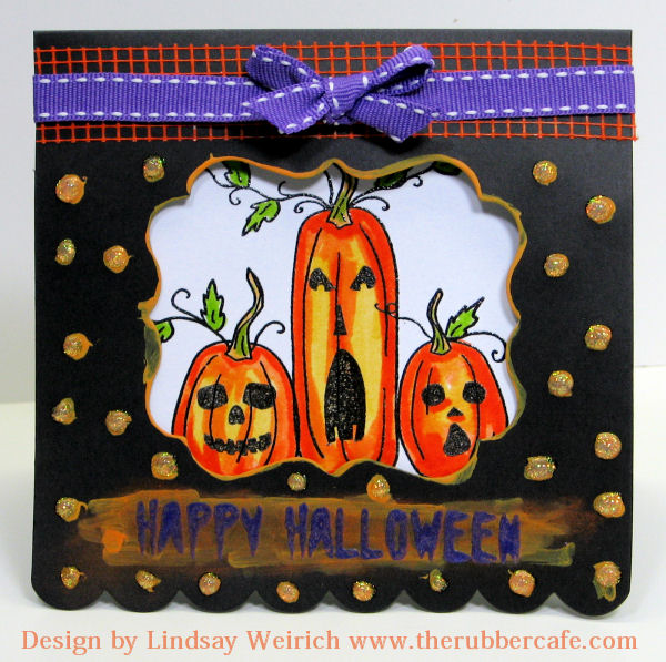 Stamps: The Rubber Cafe, Die Cut: Creativecutsandmore.com, ribbon: Target, ink: Versafine, Markers: tombow