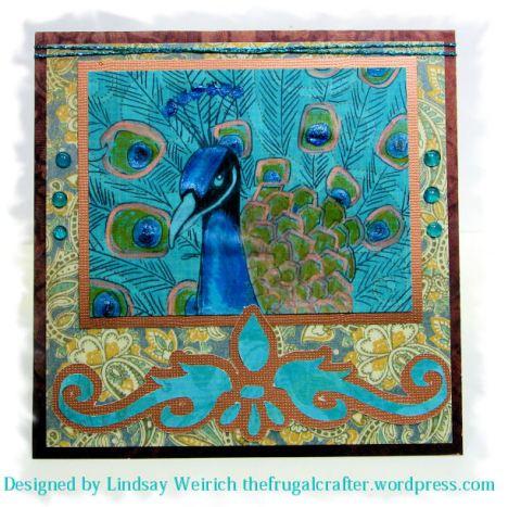 Stamp: Lindsay's Stamp Stuff, Paper: DCVW, K&Co., Diecut: Download beloe, other: Metallic Thread, hot glue drops