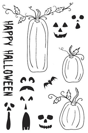 Pumpkin Face Mix and Match from The Rubber Cafe