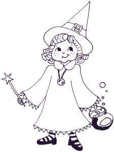 A cute witch, only $1 in the shop!