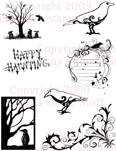 Creept Crow digital stamp set: Lindsay's Stamp Stuff