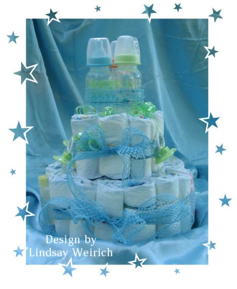 Diaper cakes are fun to make!