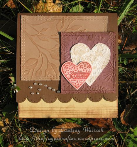 Stamp: SU!, Embossing folders and dies: Cuttlebug, Scoring/Preicing tools: Scor-Pal