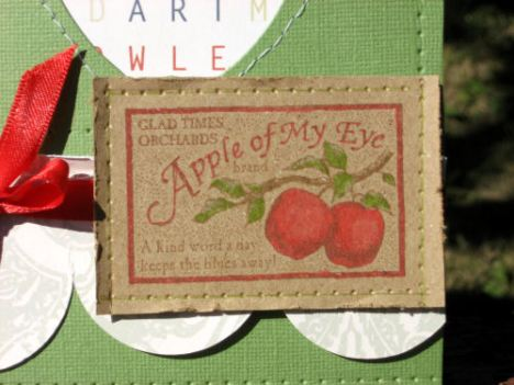 This stamp is from a retired Stamp Up stamp set called Farm Fresh. I wanted this set foy years and found it a few weeks ago on ETSY! Yay! Aint it perty?