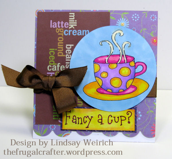 Stamps: Lindsay's Stamp Stuff, Coffee word paper (freebie on yesterdays post), other PP: DCWV