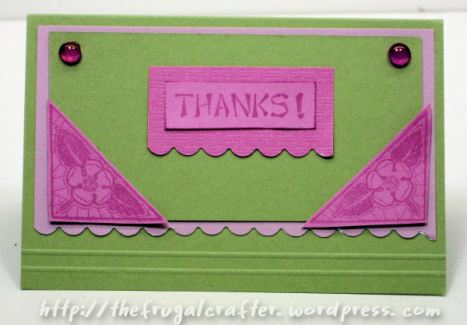 Waste not, want not, make a card with the scraps!