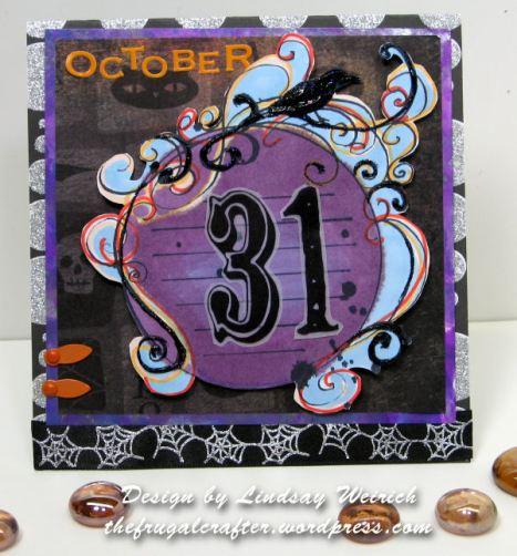 Stamp: Lindsay's Stamp stuff, PP: Karen Foster, DCWV, Ribbon: Wal-Mart