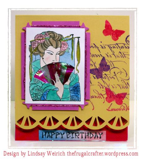 Stamps: About Art Accents, Cardstock: SU!, GP, Tissue paper: Dollar Tree, Watercolors: M Graham, Ink: Versafine