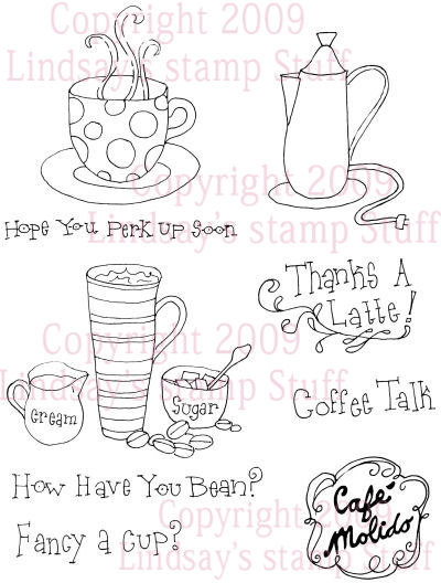 Coffee Talk Digi-stamp set in PND and JPG format $5 at Lindsay's stamp stuff!
