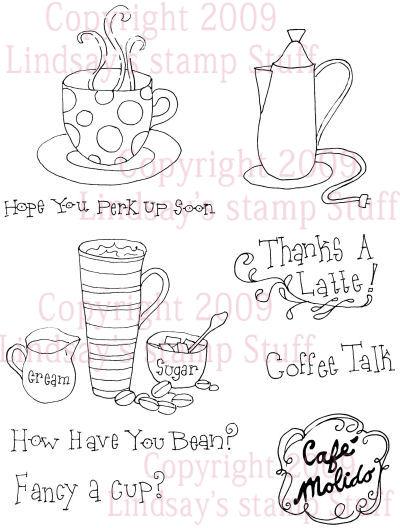 Coffee Talk Digi-stamp set in PND and JPG format $5 at Lindsay's stamp stuff!