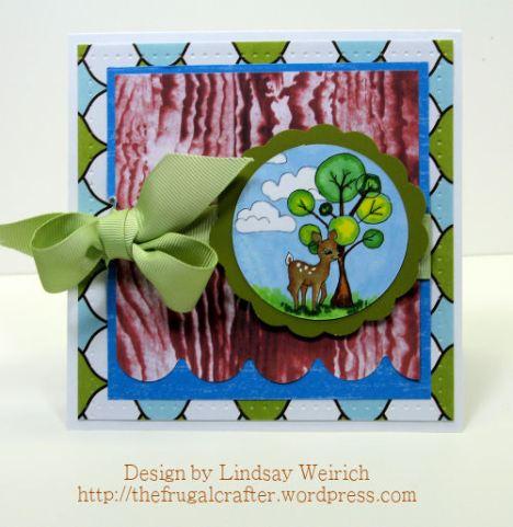 Stamps: Lindsay's stamp Stuff, PP: Ametican Crafts (green & blue) Woodgrain (LSS freebie, download below;)