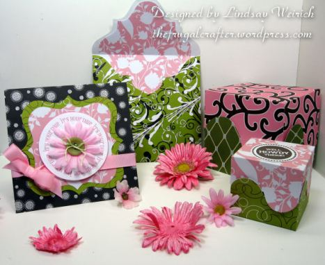Stamps: Lindsay's Stamp Stuff (All Around Phrases), Die Cuts (freebies, see below) Pattern Paper: American Crafts, DCWV