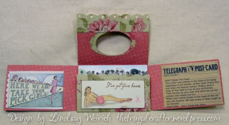 """I got your back"" A great reminder to do your monthly breast self exams girls! If you notice the first photo you see the ribbon loop, that is so you can hang the card up, maybe in your powder room so you wont forget to do your exam EVERY MONTH! It saves lives ladies ;)"