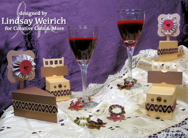 Die CutsL Creative Cuts and more, Ribbon: WalMart, Other: Beads, wine glass charm findings