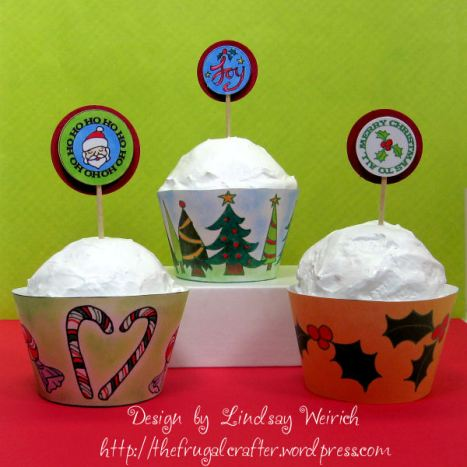 Cupcake wrappers, the latest from Lindsay's Stamp Stuff!